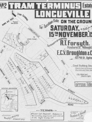 Sydney Heritage Consultant 1919 Tram Terminus Longueville site plan