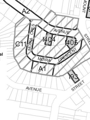 heritage map sheet 007 with key outlined